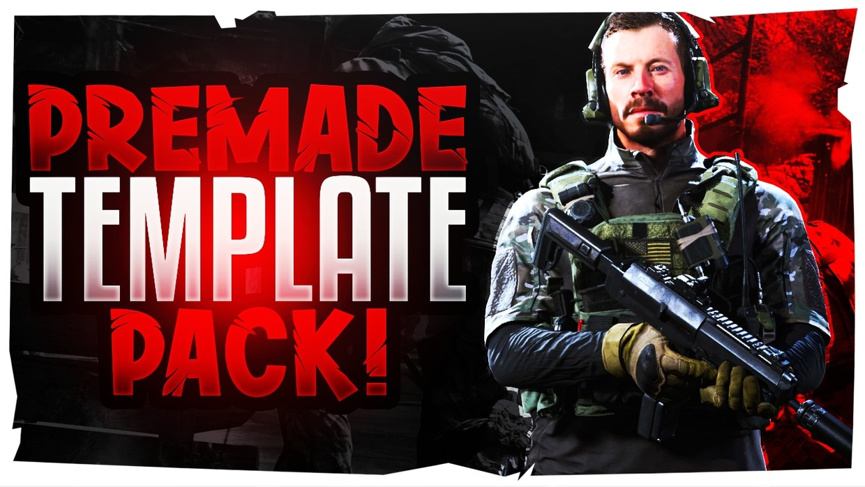 Modern Warfare Youtube Thumbnail Template Pack 4 Se Acez