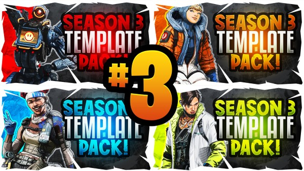 Apex Legends YouTube Thumbnail Template Pack #3 - Season 3 Edition - Meltdown