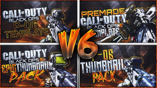 Black Ops 3 Thumbnail Template Pack V6 - P-06 Sniper Rifle Edition