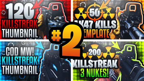 Modern Warfare YouTube Thumbnail Template Pack #2 - Pubstomping Edition
