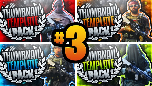 Modern Warfare YouTube Thumbnail Template Pack #3 - Operator Edition
