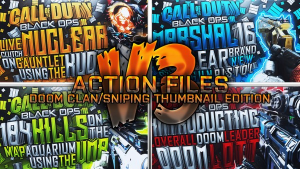 Action Files Pack V3 - DooM Clan / DooM Sniping Thumbnail Edition - Photoshop Template