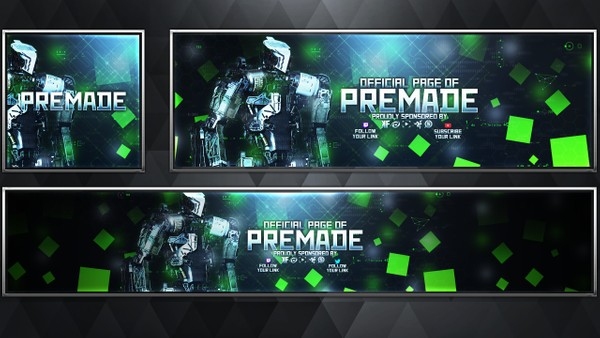 Synaptic - Infinite Warfare - Social Media Revamp Pack V21 - Photoshop Template