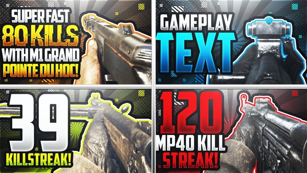 Call of Duty: WWII Pubstomping Thumbnail Template Pack - YouTube Thumbnail Template for Photoshop