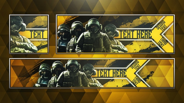 Social Media Revamp Pack V3 - Rainbow Six: Siege GSG9 Edition - Photoshop Template