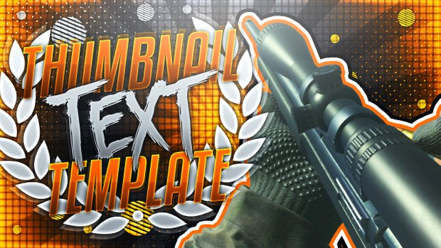 YouTube Thumbnail Template Pack V8 - Modern Warfare Remastered Sniper Rifles - Photoshop Template