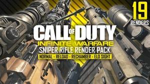 Infinite Warfare Sniper Rifle Render Pack