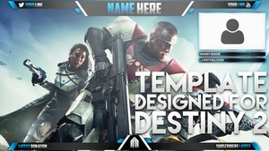 Live Stream Overlay Template Pack - Destiny 2 - Photoshop Template - Volume 9