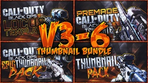 Ultimate Black Ops 3 Thumbnail Bundle Pack - Sniper Rifle Edition (Volume Packs 3-6)