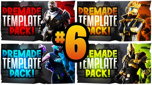 Fortnite YouTube Thumbnail Template Pack #6 - Season 10 Edition