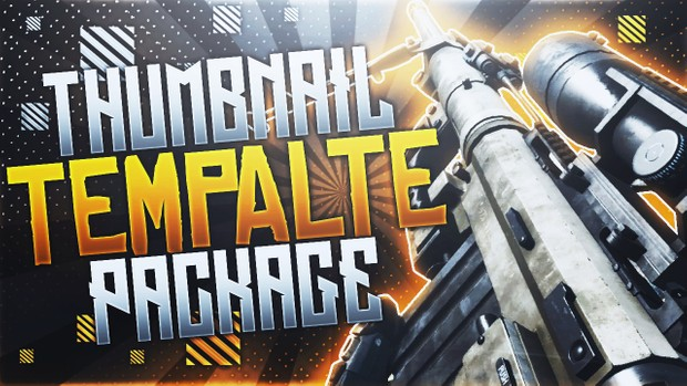Infinite Warfare - Thumbnail Template Pack V5 - Photoshop Template