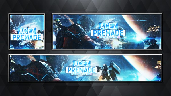 Social Media Revamp Pack V7 - Infinite Warfare Edition - Photoshop Template