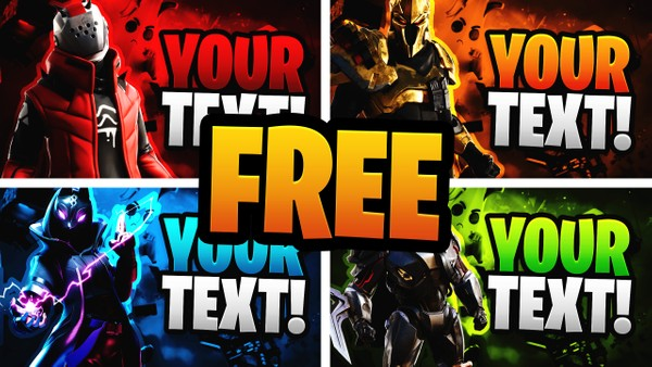 Free Fortnite YouTube Thumbnail Template Pack