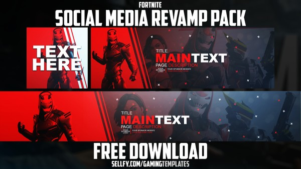 Fortnite Season 9 Social Media Revamp Pack #2 - YouTube Banner, Twitter Header & Avatar