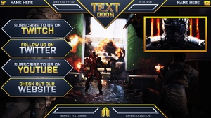 Ultimate Customizable Twitch Live Stream Template Pack V2