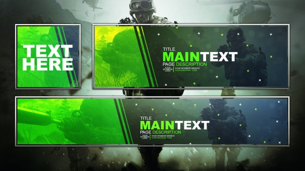Modern Warfare Remastered - Social Media Revamp Template Pack - Photoshop Template