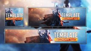 Battlefield 1 - Social Media Revamp Template Pack - Photoshop Template