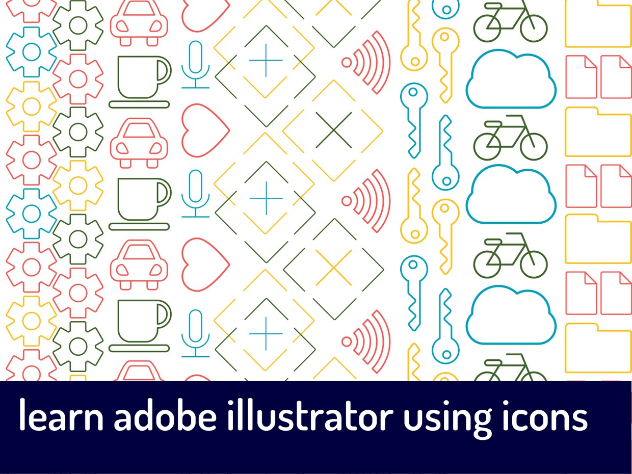 Learn Adobe Illustrator Using Icons: FULL PACKAGE