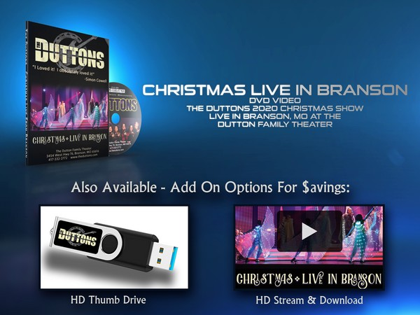 2020 Christmas Live In Branson - DVD or Thumb Drive