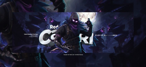 Header for Red Carl  | Template PSD File