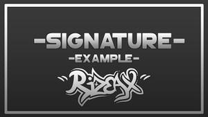 Signature / Firmas