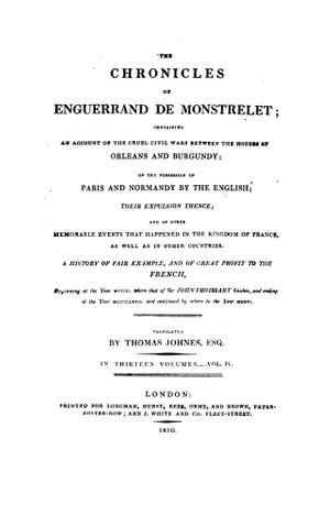 Enguerrand de Monstrelet chronicle vol.4