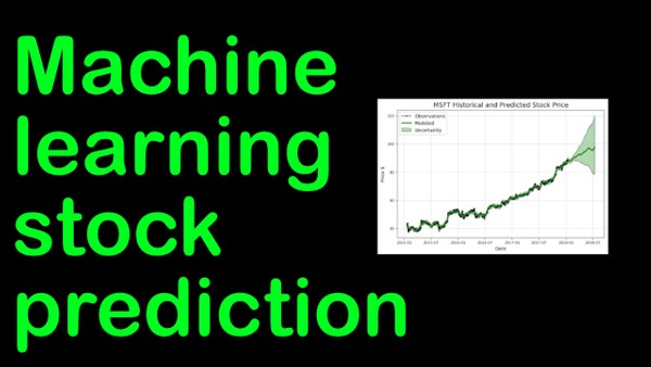 stock price machine learning tool.