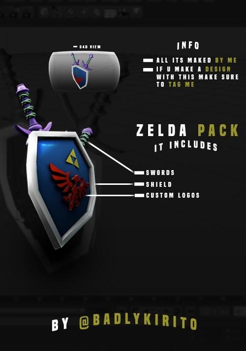 Zelda Pack, Link For Cinema 4D - Kirito Kun