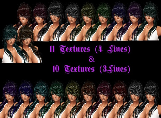 4 Lines And 3 Lines Hair Textures