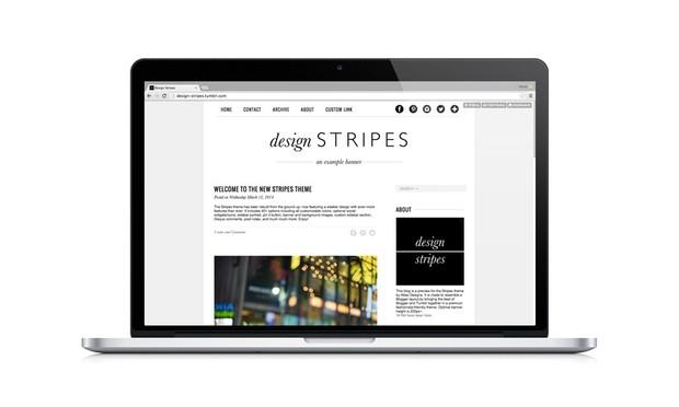 STRIPES Premium Tumblr Theme