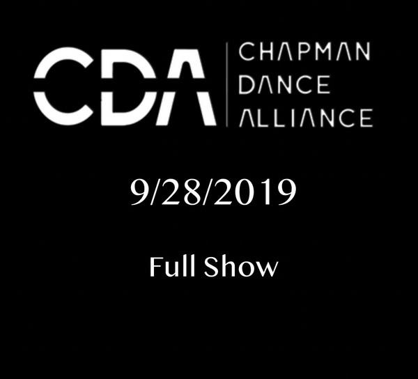 9/28/2019 Chapman Dance Alliance FULL SHOW