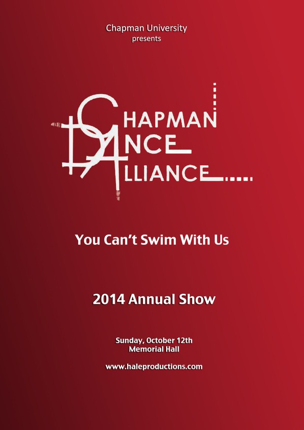 Chapman Dance Alliance 2014 - 17 - You Can't Swim With Us!