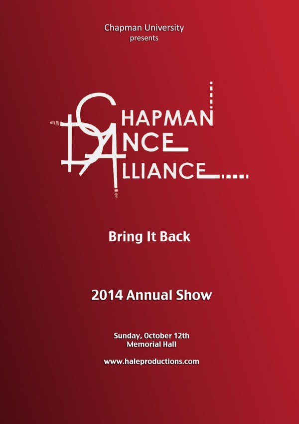 Chapman Dance Alliance 2014 - 10 Bring It Back
