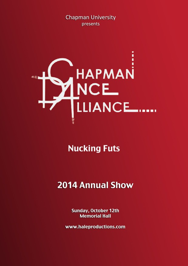 Chapman Dance Alliance 2014 - 13 - Nucking Futs