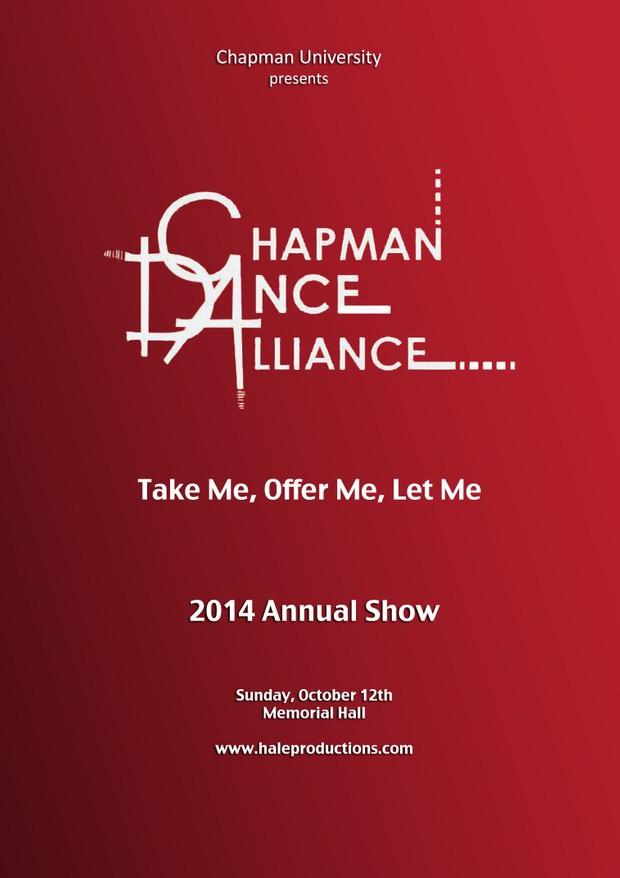 Chapman Dance Alliance 2014 - 14 - Take Me, Offer Me, Let Me