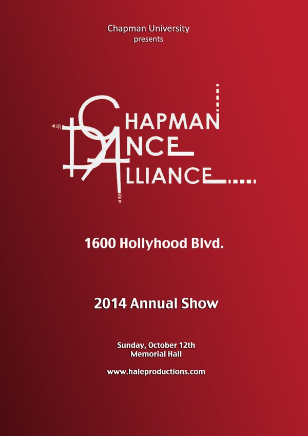Chapman Dance Alliance 2014 - 19 - 1600 Hollyhood Blvd.