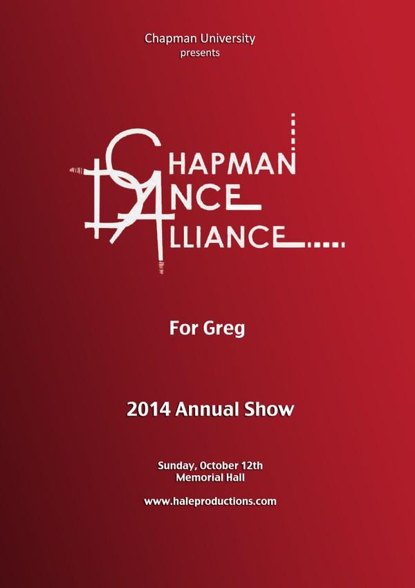 Chapman Dance Alliance 2014 - 15 - For Greg