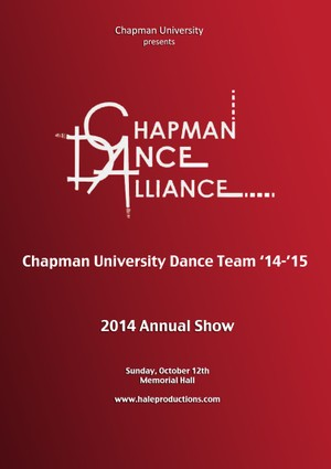 Chapman Dance Alliance 2014 - 01 - Chapman Univeristy Dance Team '14-'15