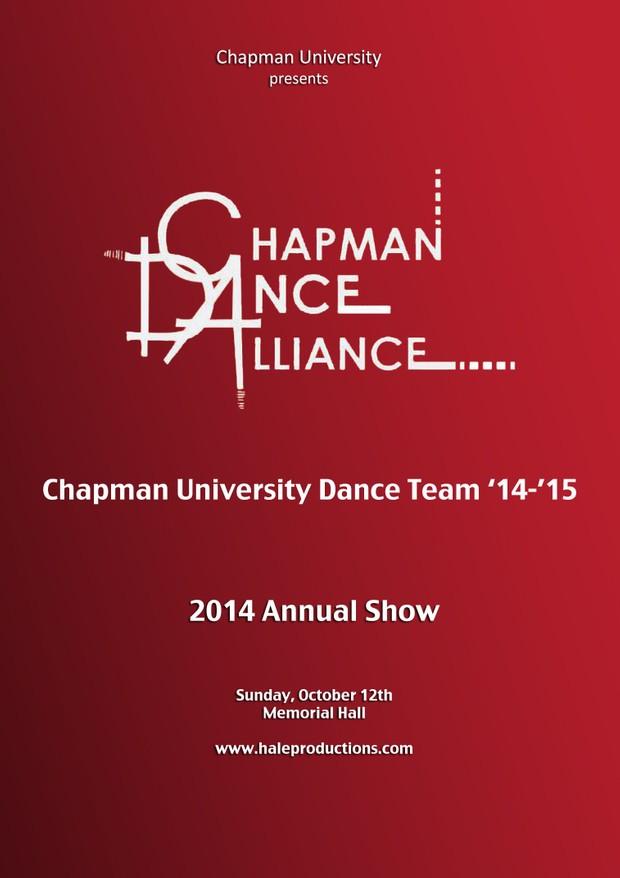 Chapman Dance Alliance 2014 - 01 - Chapman Univeristy Dance Team '14-'15