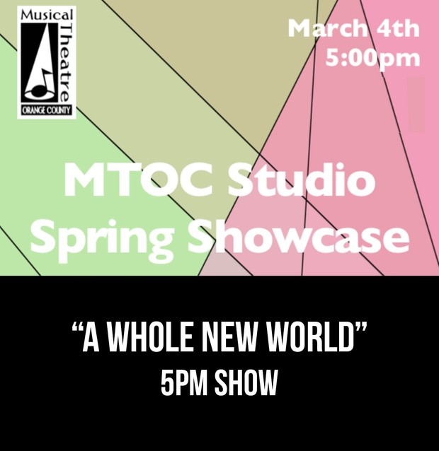 """""""A Whole New World"""" – Aladdin     From the 5pm 3/4/17 MTOC Spring Showcase"""
