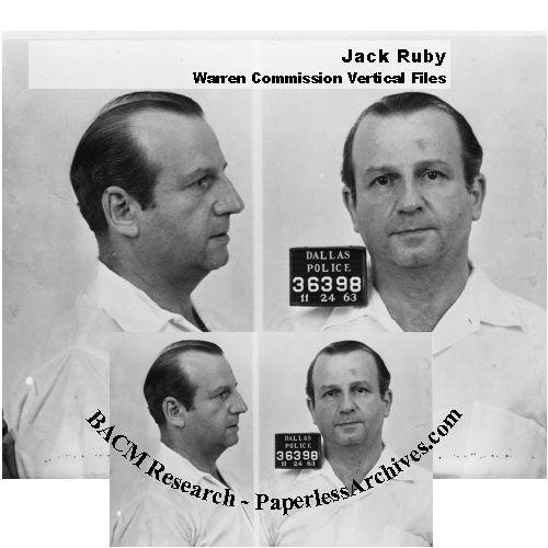 JFK Assassination Jack Ruby Warren Commission Vertical Files