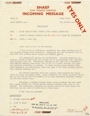 D-Day Invasion of Normandy - Operation Overlord  Documents and Photos - Download