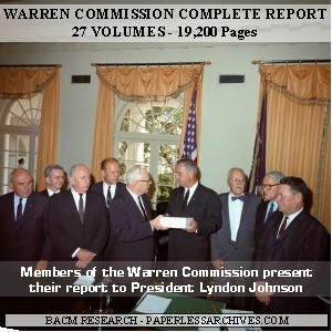 Warren Commission Complete Report, Hearings, and Exhib -  PaperlessArchives.com