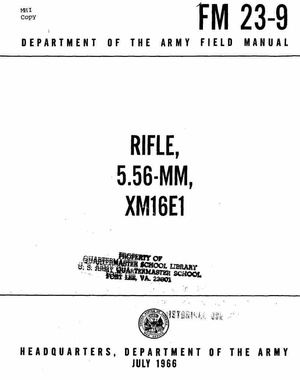 Vietnam War: M-16 M-14 & Other Rifle Groups Dept of Defense Reports, Field Manuals