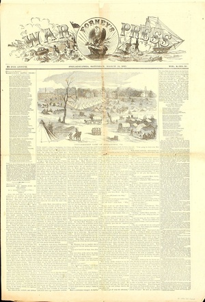 Civil War: Forney's War Press Newspaper 1863
