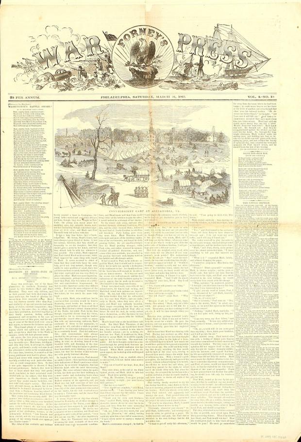Civil War: Forney's War Press Newspaper 1863