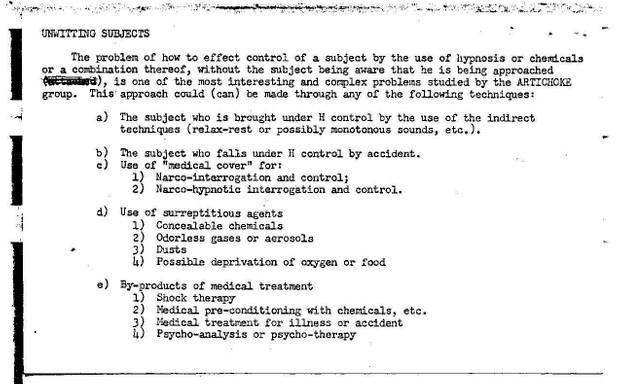 "CIA Project ARTICHOKE - Mind Control – ""Manchurian Candidate"
