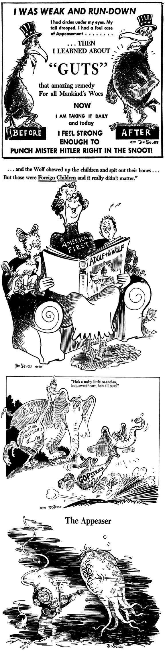 Dr. Seuss - Theodor Geisel World War II Political Cartoons - Download