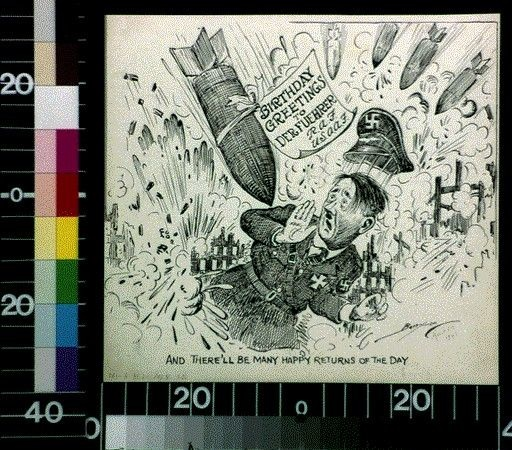 World War II Clifford Berryman Political Cartoons