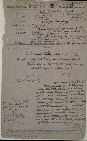 Titanic Disaster British National Archives Documents - Download